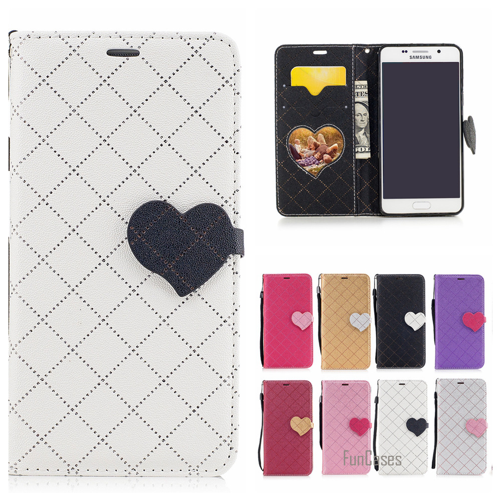 Cute Heart PU Leather Case For Samsung Galaxy A310 Hit Color Couro Phone bag For Samsung A3 2016 A310F Etui Caso Tiron Capinhas