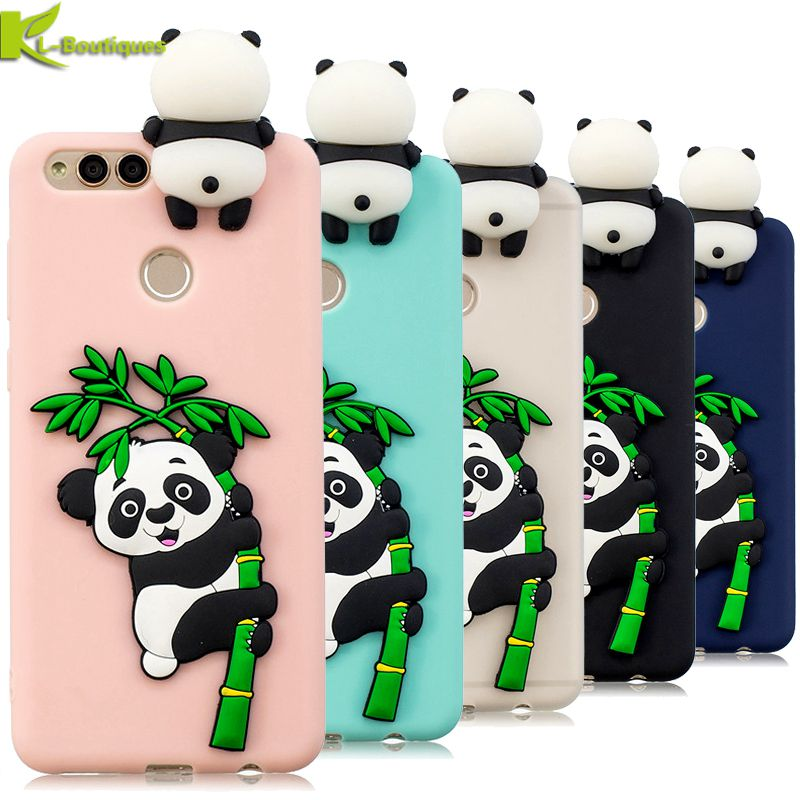 2019 New Style Honor 7x Case On For Huawei Honor 7x Fundas 3d Cartoon Panda Soft Tpu Silicon Phone Cases Cover For Huawei Honor 7 X Coque