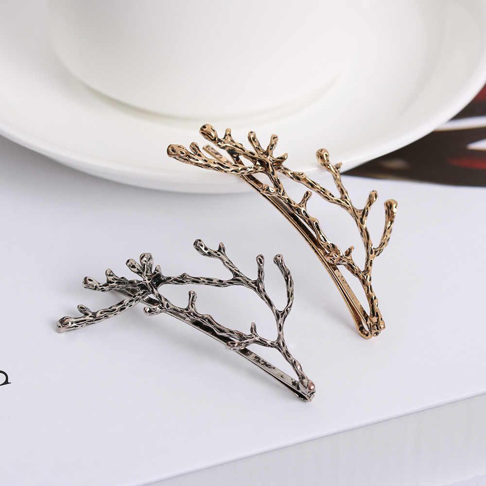 2019 Мода 1 шт. женский лист перо заколка для волос металлическая Геометрическая заколка для волос украшение для волос вечерние украшения для волос