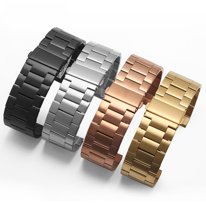 Garmin High quality watchband 26mm Classic Stainless Steel Metal Strap for Garmin Fenix 3 free shipping high quality lowest price wholesale kz 19 pneumatic combination steel metal strapping packing machine for 19mm steel strap tape