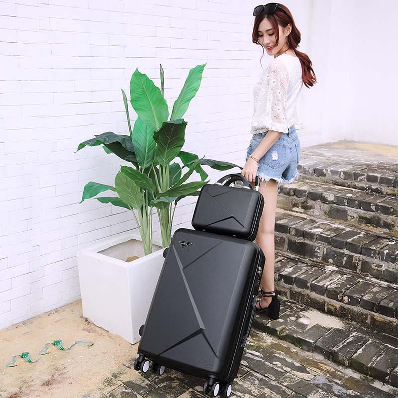 LeTrend toczenia walizki na bagaż Spinner studentów hasło walizka koła 20 cal koreańska wersja przenoszenia na torba podróżna na kółkach bagażnika w Walizki od Bagaże i torby na  Grupa 2