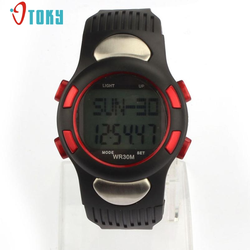New Fitness 3D Pedometer Calories Counter Watch Fashion Men Watches Pulse Heart Rate Monitor Creative Mens Clock Mar09 все цены