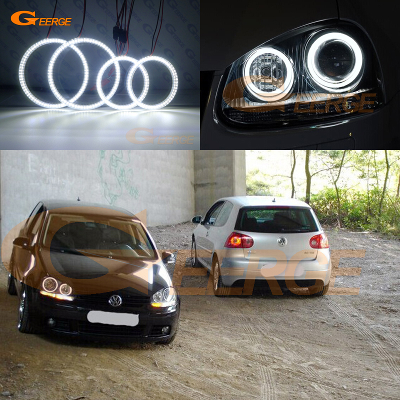 Pour VOLKSWAGEN VW golf 5 V mk5 2004 2005 2006 2007 2008 2009 yeux d'ange éclairage Ultra lumineux smd led kit yeux d'ange DRL