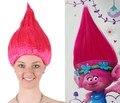 Trolls peluca para adultos niños rosa verde púrpura orange traje Fuentes Del Partido Cosplay Partido Peluca Cosplay 8 Colores En la Acción venta al por menor