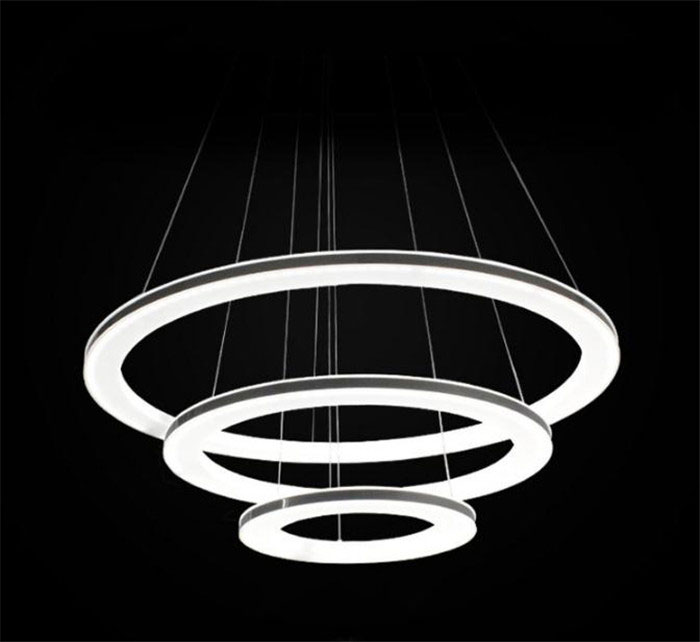 Modern LED Acrylic hanging chandeliers Light Fixture Circle Ring Lustre suspension Lamp led Lighting for living room home modern crystal chandelier hanging lighting birdcage chandeliers light for living room bedroom dining room restaurant decoration