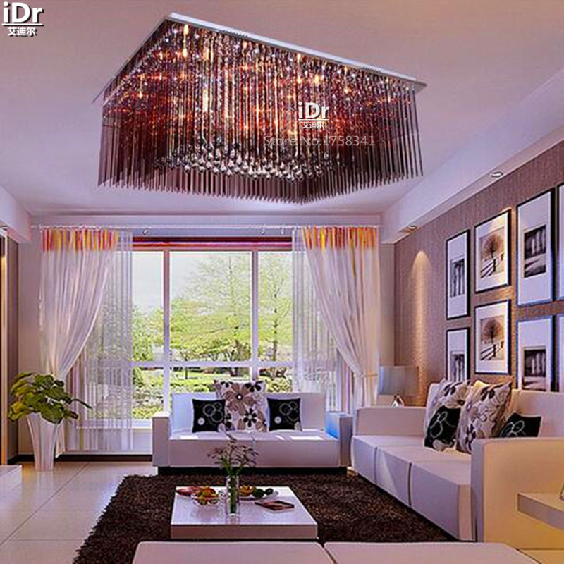 Lamp modern minimalist rectangular living room lamp bedroom lamp study household lights Ceiling Lights wwy-0132 british snooker billiard lamp senior clubs casino card room lamp cradle pendant lights wwy 0431