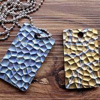 New! Pure Titanium System Flint Pattern Army Fans Brand Pendant Identity Card Necklace Keychain Pendant Key Fall EDC Multi Tools