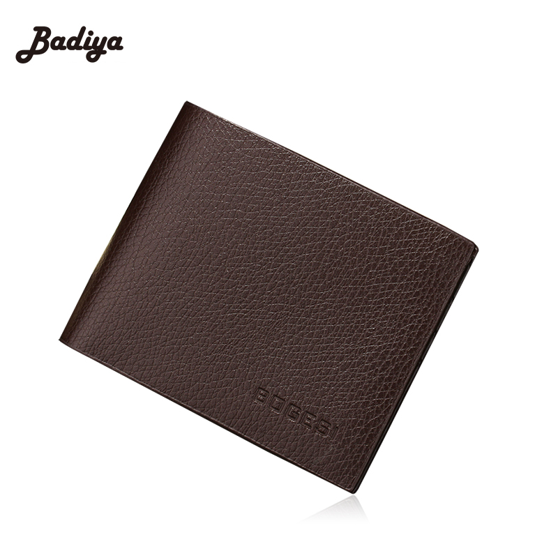 2017 Fashion Men Wallet PU Leather Vintage Solid Purses Money Bag Credit Card Holders New Dollar Price Wallet men vintage wallet pu leather dollar