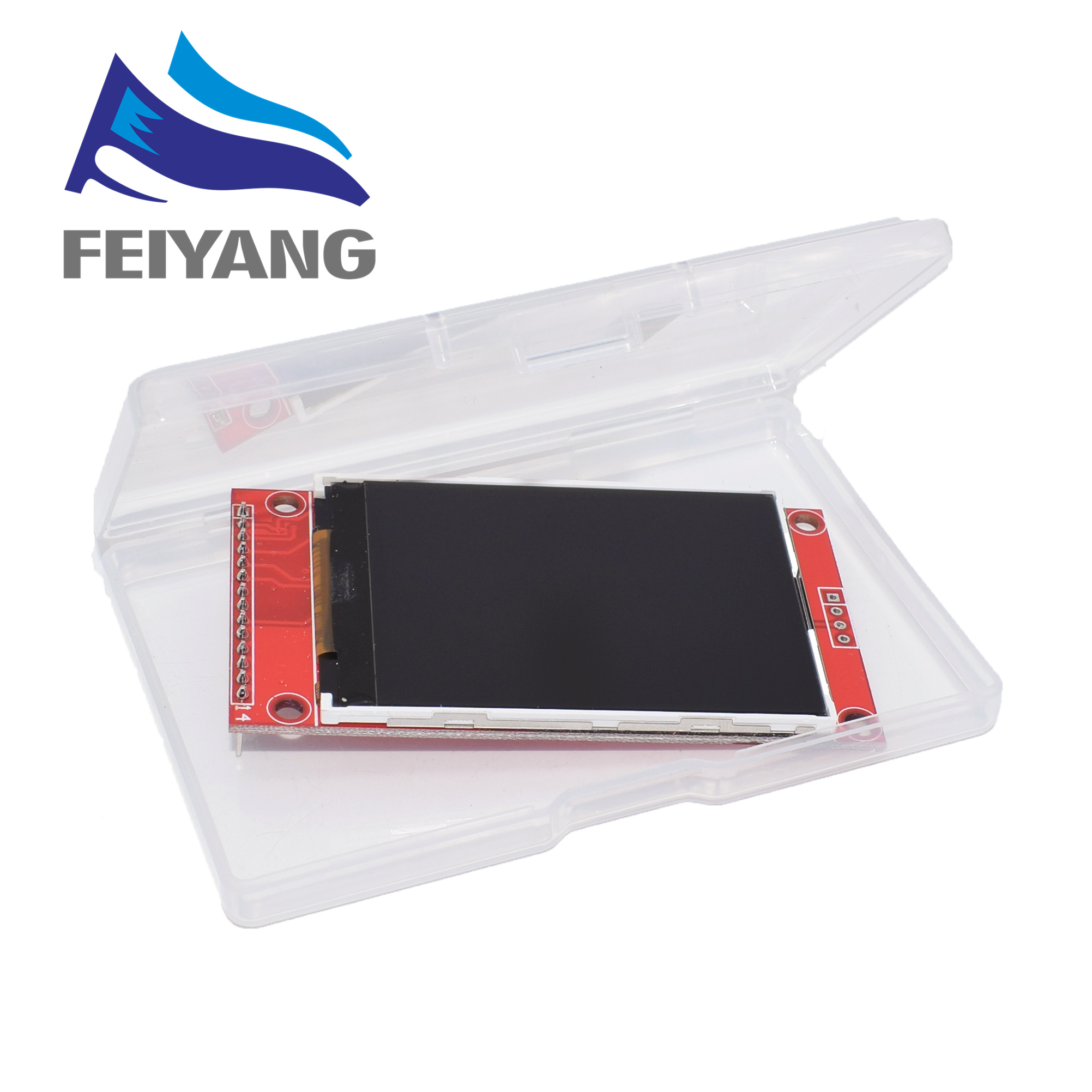 "2.4 ""2.4 polegada 240x320 spi tft lcd módulo de porta serial 5 v/3.3 v pcb adaptador micro cartão sd ili9341 display lcd branco led"