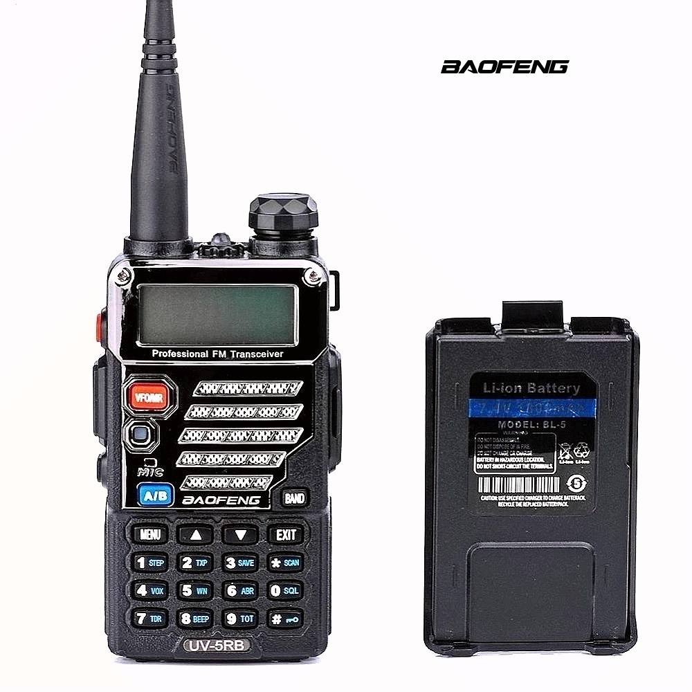 Baofeng UV-5RB ham Two Way Radio for Police Fire Dual Band 136-174Mhz & 400-520Mhz Handheld Scanner Portable Transceiver sticker