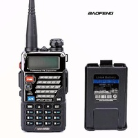 Baofeng UV 5RB ham Two Way Radio for Police Fire Dual Band 136 174Mhz & 400 520Mhz Handheld Scanner Portable Transceiver