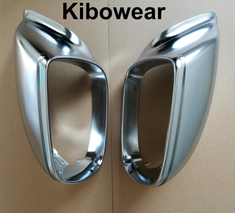 Kibowear for Audi Q5 8R Q7 4L SQ5 Chrome Side Mirror Cover Caps 2009 2010 2011 2012 2013 2014 2015 2016 Silver Matte kibowear 2017 for audi new tt side mirror covers caps matte chrome brushed silver replacement 2015 2016