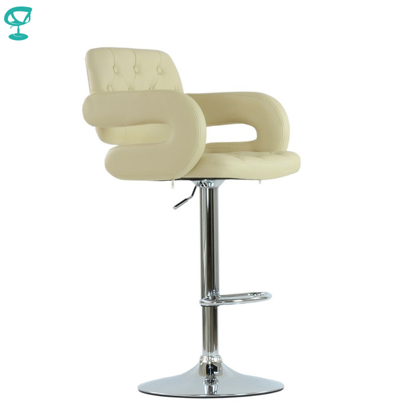 94536 Barneo N-135 Leather Kitchen Breakfast Bar Stool Swivel Bar Chair Cream Color Free Shipping In Russia