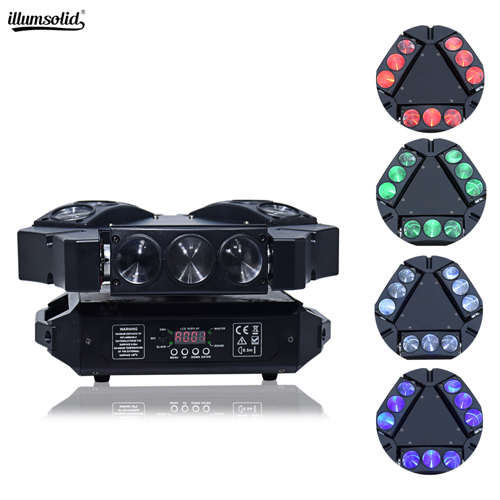 Mini LED 9x12W RGBW Moving Head Light LED Spider Beam Stage Lighting DMX 512 Spider Light Good For DJ Nightclub Party