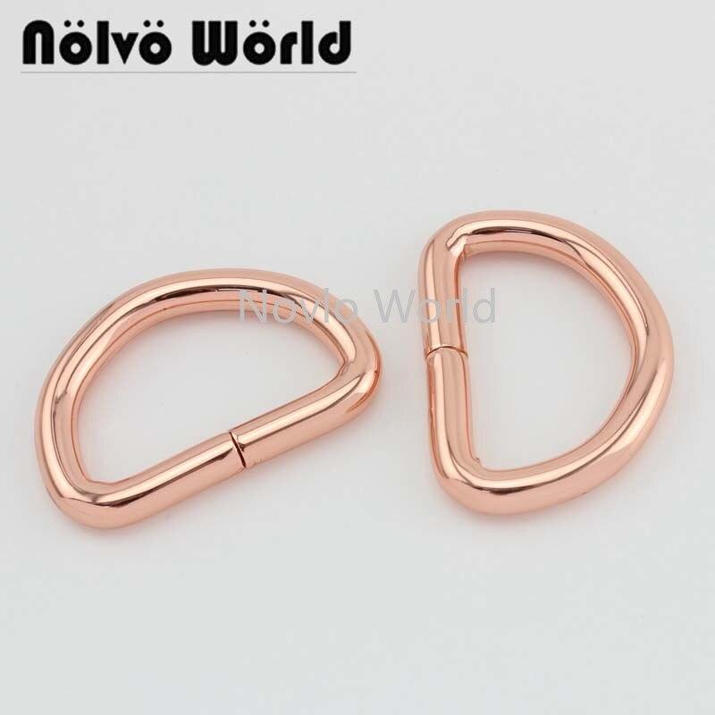 4 Pieces Test, 32*19mm, Small Quantity Metal D Ring Bag Handle Buckles Women Handbag Lock Hang Buckles Diy Hardware Accessories