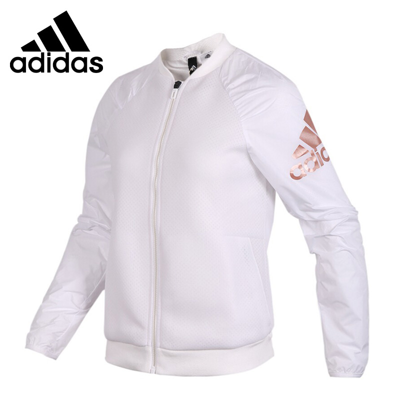 Original New Arrival 2018 Adidas JKT KN BOMBER Women's jacket Sportswear striped trim fluffy panel bomber jacket