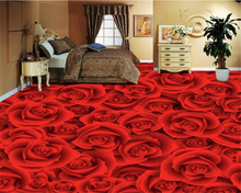 цена beibehang Custom HD Rose Living Room Bedroom 3D Floor Tile Painting Waterproof Wallpaper PVC self adhesive wallpaper garten в интернет-магазинах
