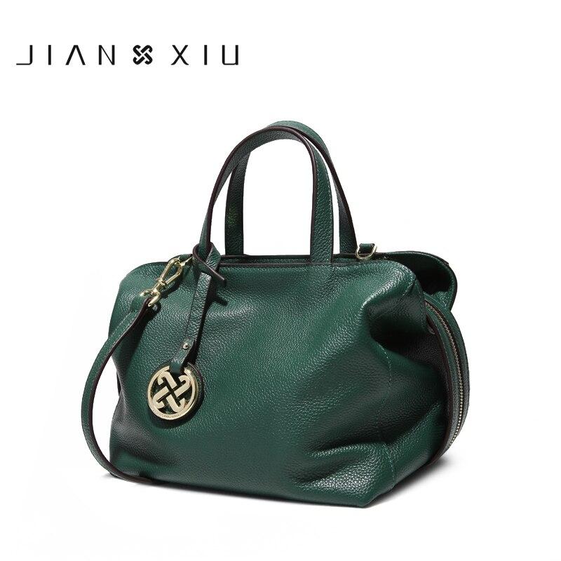 JIANXIU marca bolsos de hombro de mujer bolso de diseñador de cuero genuino 2019 más nuevos bolsos cruzados para mujeres bolsos de lujo 2 colores-in Bolsos de hombro from Maletas y bolsas    1