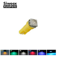 T5 37 58 70 73 74 Dashboard Gauge 1 5050SMD LED Plate Mini-Wedge Bulb Light Panel Lamp White/Blue/Yellow/Green/Red/Ice Blue(China)