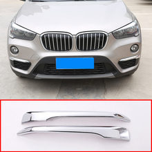 2 stücke ABS Chrom Für BMW X1 F48 2016 2017 2018 2019 Auto Vorderen kopf Nebel Lampe Cover Zierleiste zubehör
