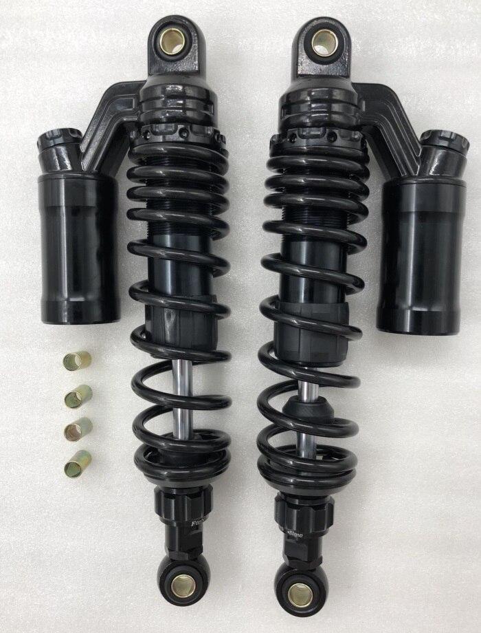 2pieces Motorcycle Rear Shock Absorber Suspension Universal 320mmRebound Damper Adjusted For Yamaha Honde Suzuki Kawasaki black