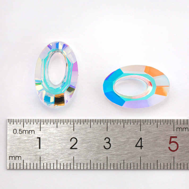 20mm 6040 คริสตัล Helios จี้รูปไข่แก้ว charms ลูกปัดคริสตัลสำหรับต่างหูสร้อยคอ DIY ผลการค้นหาเครื่องประดับ 4pcs