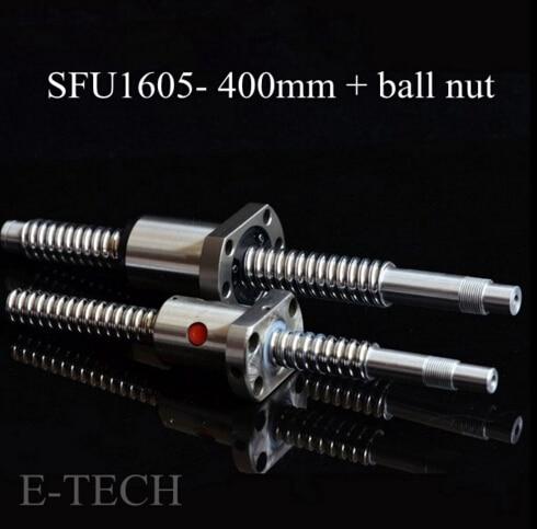 ФОТО Best Buys! SFU1605 Ballscrew Set : 1pc Ballscrew SFU1605 L400mm+1pc SFU1605 Ball Nut No End Machining