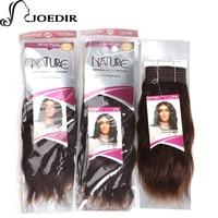 Joedir 사전 컬러 다크 브라운 브라질 머리 직조 번들 물결 모양의 레미 인간의 머리 1 번들 머리 확장 100 그램 인도 웨이브 4 #