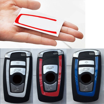 2pcs car key sticker for bmw E46 E52 E53 E60 E90 F01 F20 F10 F30 F15 X1 X3 X5 X6 1 2 3 4 5 Serie image