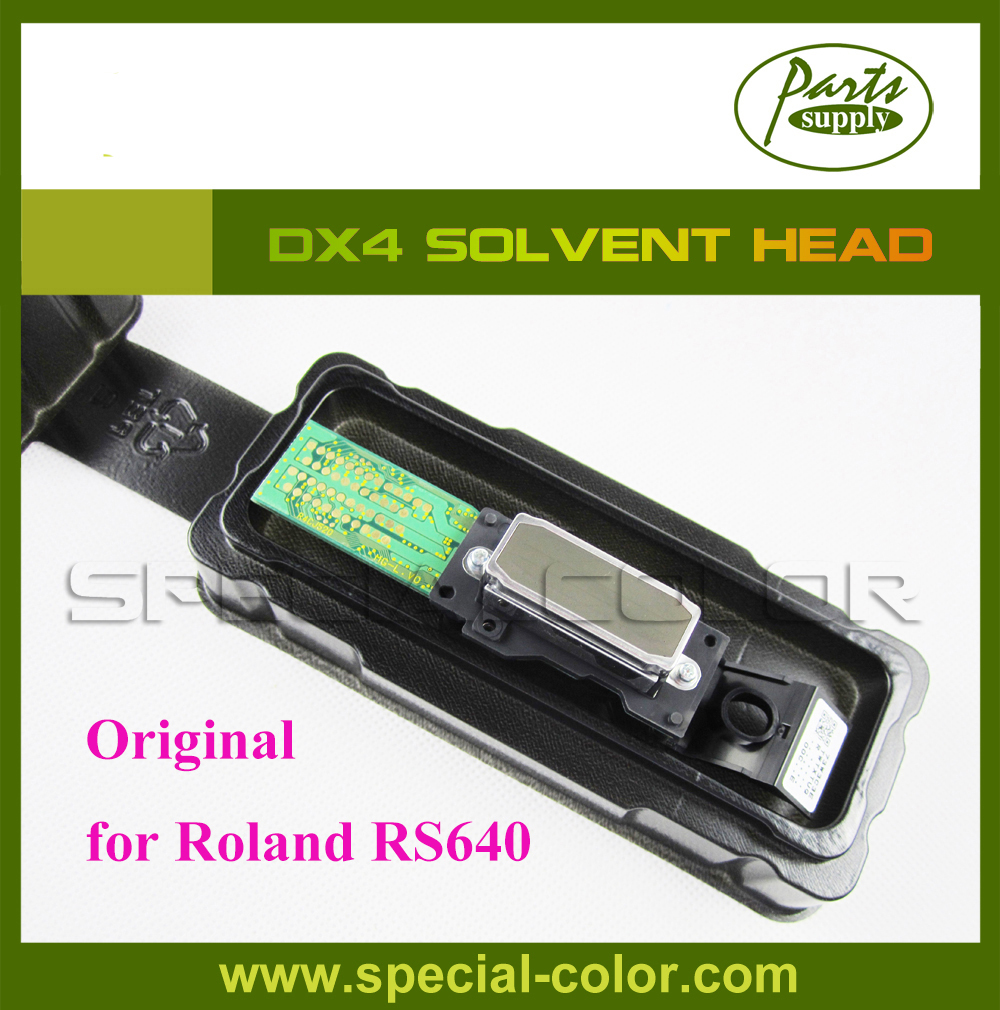 Roland RS640 Parts DX4 Solvent Printhead with/without rank number (Get 2pcs DX4 Small Damper free) new original dx4 solvent printhead for roland xj740 640 540 printer get 2pcs dx4 small damper as gift