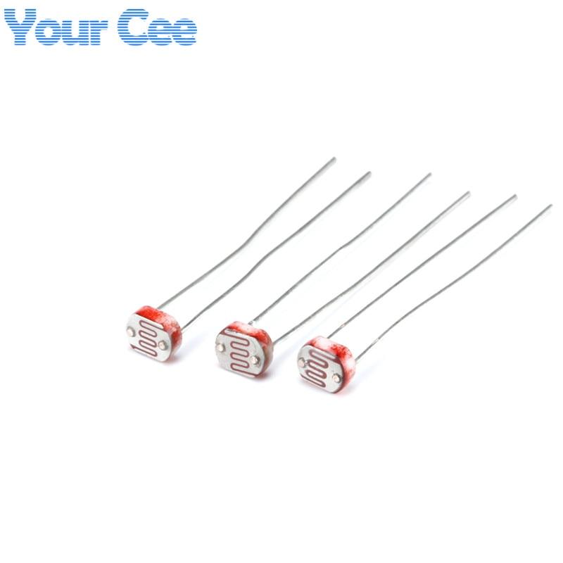 50pcs 5MM Photoresistor Light Dependent Resistor LDR 5506 5516 5528 5537 5539