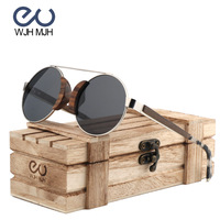 Children Sunglasses Polarized classic Round Frame Glasses for Boys Girls Brand Designer Eyewear Wood glasses Kids YW219 Dropship