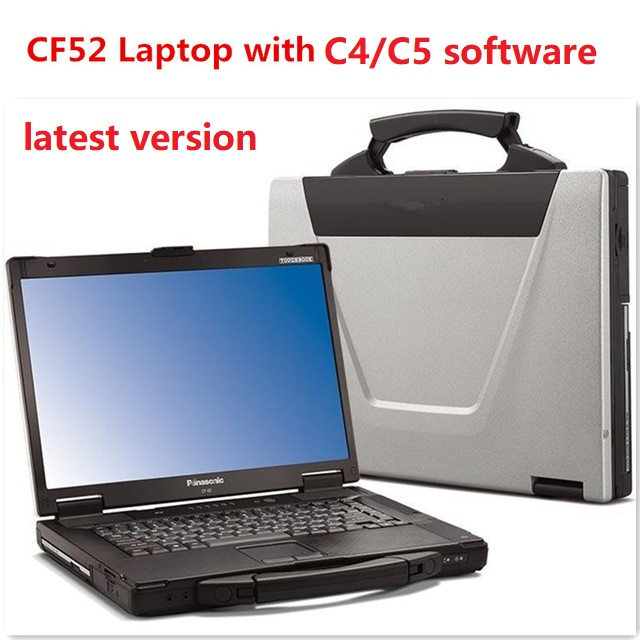 Used Panasonic CF-52 CF52 CF 52 Military Toughbook Diagnosis Laptop With Latest Version Software For SD Connect 4 STAR C4/C5/C6