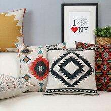 Простой современный скандинавский геометрические подушки подушка белье наволочки главная украшения диванные подушки