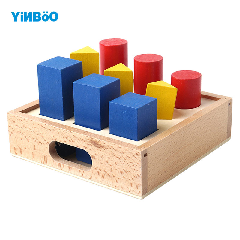 Baby Toy Montessori Professional Wooden Toy Geometry Strut Early Childhood Education Preschool Training Kids Toys