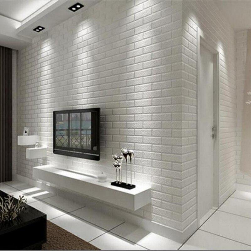 Papel tapiz de pared de ladrillo blanco para dormitorio, comedor, papel  pintado moderno en 3D, decoración del hogar, papel pintado para paredes,  papel ...