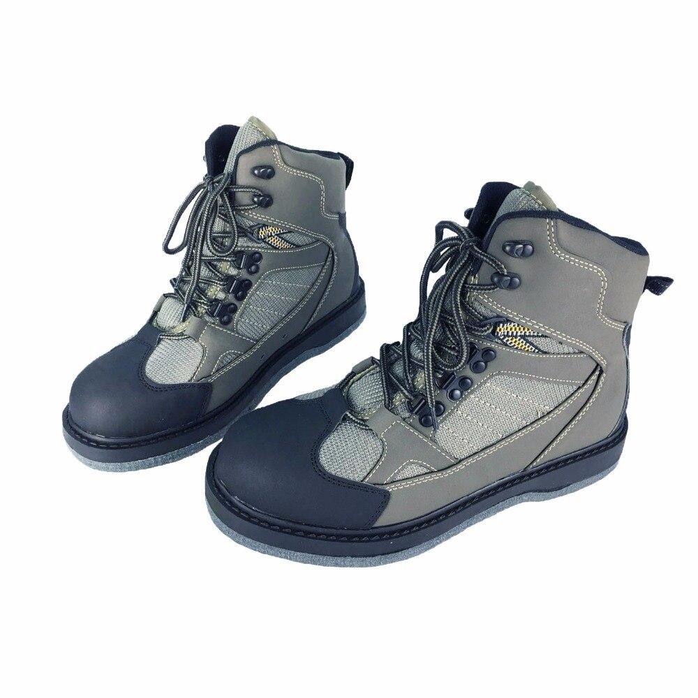 Chaussures de pêche à la mouche Aqua Sneakers respirant Rock Sport Wading Wader bottes à semelle en feutre à séchage rapide chaussures d'extérieur antidérapantes homme