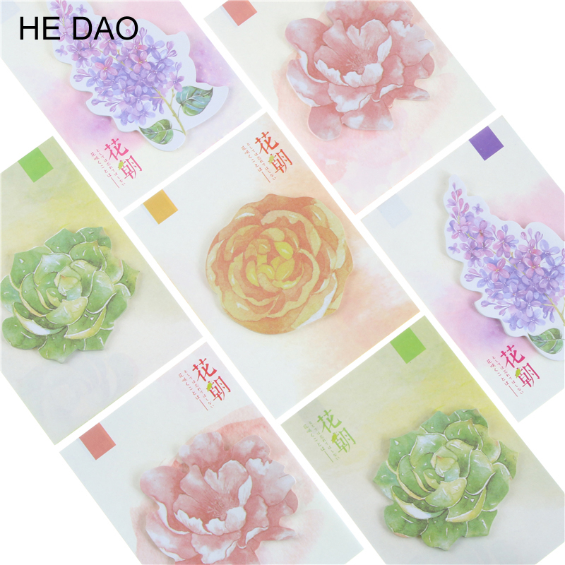 30 sheets Beautiful Delicate Kawaii Flowers Notebook Memo Pad Self-Adhesive Sticky Notes Office School Supplies Post It Memo Pad