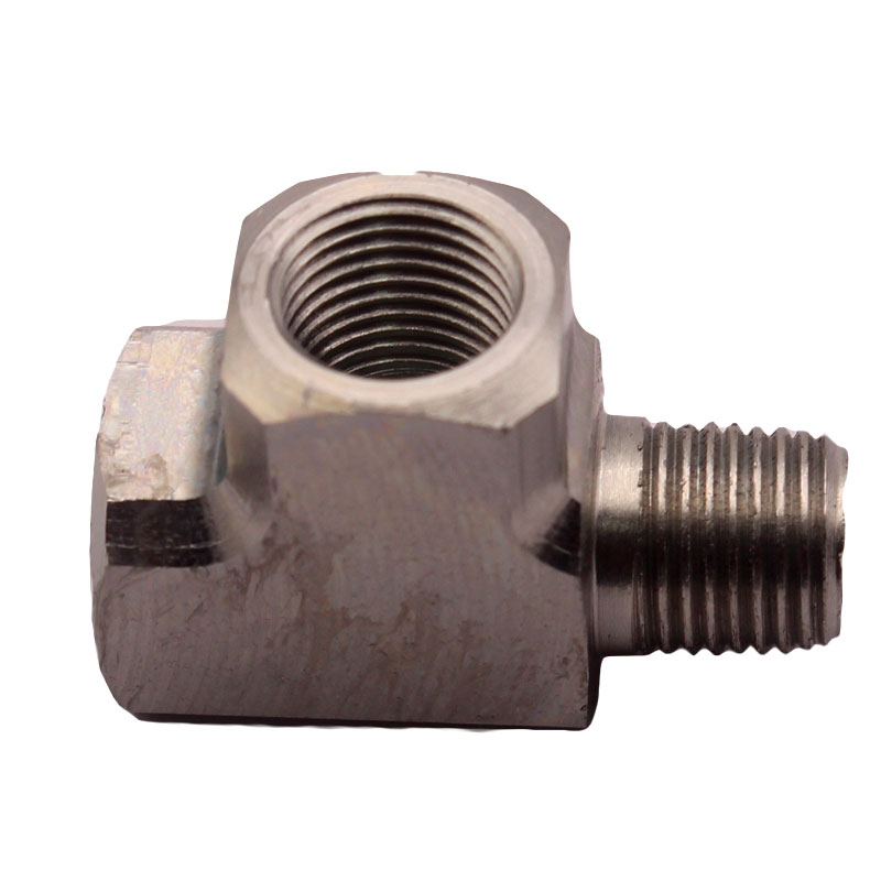 "Image 3 - Mild Steel Adapter T Tee Fitting 1/8"" BSPT For Air Oil Water Pressure Sensor Gauge-in Oil Pressure Gauges from Automobiles & Motorcycles"