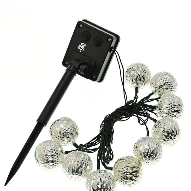 Lámparas novedad Bola LED Cadena de Iluminación Solar Al Aire Libre Luces de Hadas de la boda de Navidad Jardín Colgante Garland 10 LEDs/3.3 M
