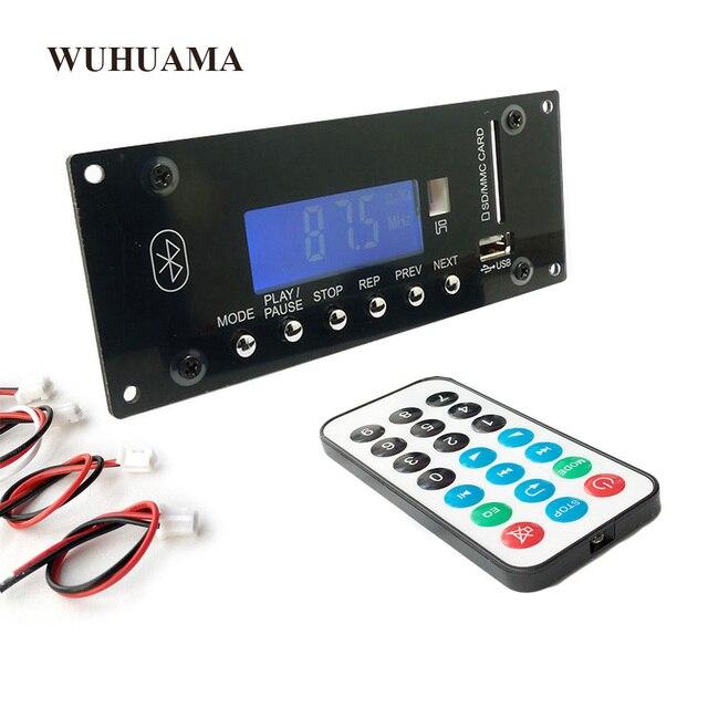 DC12V BT Bluetooth 4.0 מודול MP3 לוח פענוח SD APP בקרה USB כרטיס MMC FM APE FLAC WAV WMA מפענח לוח כחול LED