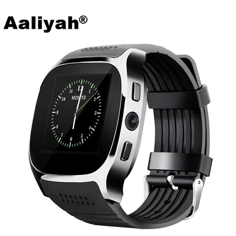 Aaliyah T8 Bluetooth Astuto Della Vigilanza Con La Macchina Fotografica Facebook Whatsapp Supporto SIM Carta di TF Chiamata Smartwatch Per Android Del Telefono PK M26 DZ09