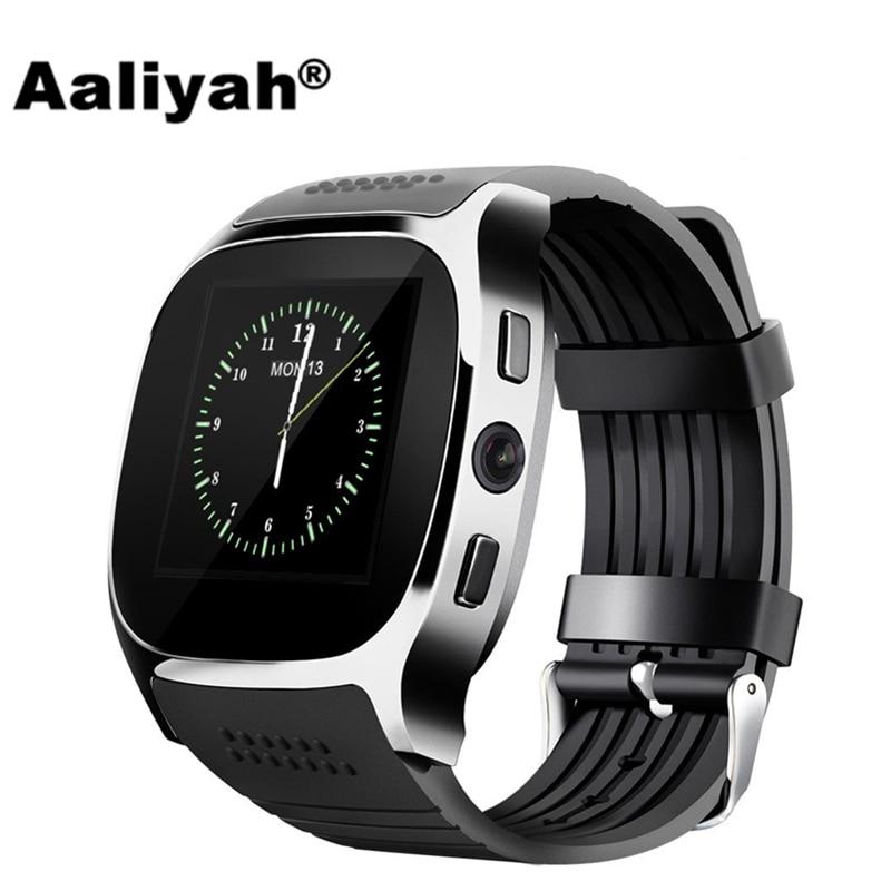 Aaliyah T8 Bluetooth Smart Uhr Mit Kamera Facebook Whatsapp Unterstützung SIM TF Karte Anruf Smartwatch Für Android Telefon PK M26 DZ09