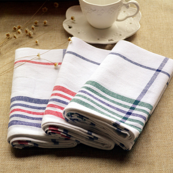 Etonnant Big Size Cotton Striped Plaid Kitchen Napkin Three Colors Kitchen Towel  Scouring Pad 40x65cm Good Cotton In Table Napkins From Home U0026 Garden On ...