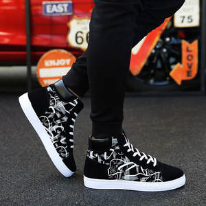 Men Sneakers Sport-Shoes High-Top Vogue Men's Summer of Han-Edition Student-Board