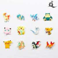 Free shipping 1pcs lovely mix acrylic Pokemon Accessories Fashion cartoon Brooch Badge Pin Collar brooch Jewelry Gift,Pet,n64