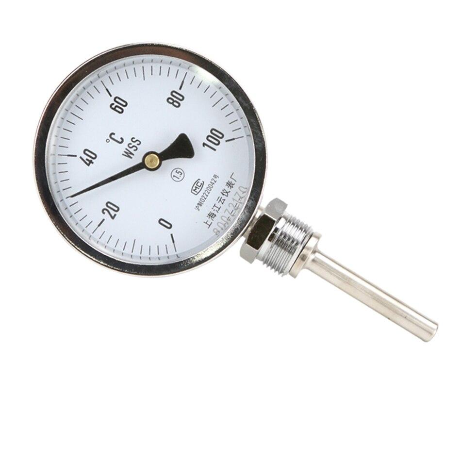 WSS-411 0-100 degrés longueur 20 cm bimétallique en acier inoxydable disque industriel chaudière Profession Anti-corrosion - 2