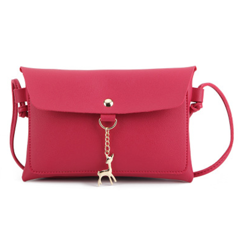 VISON&JOHNSON 2018 Casual Messenger Bags Mini Shoulder Crossbody Bag Black Pink Envelope Ladies Shoulder Bag Bolsa Rfid Wallet