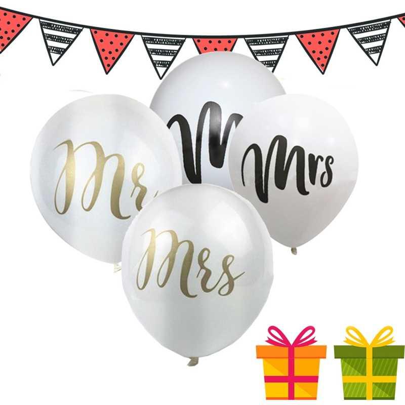 10pcs Mr Mrs Balloon Wedding Engagement Party Decoration Bridal Shower Balloon Wedding Party Decoration