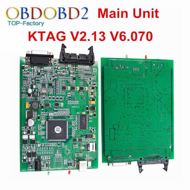 Основной Блок V6.070 V2.13 KTAG К TAG ECU Инструмент К-TAG Мастер Версия Без Лексем Ограничено Несколькими Языками Diangnostic инструмент